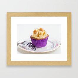 Banoffee Cupcake Framed Art Print