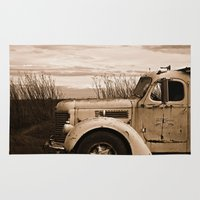 truck Area & Throw Rugs featuring Vintage Truck by Urlaub Photography