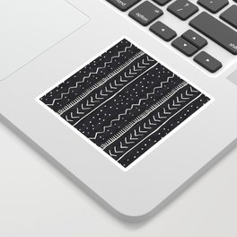 Moroccan Stripe in Black and White Sticker