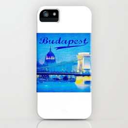 Budapest, light blue iPhone Case