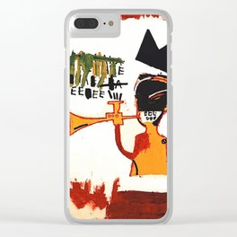 Basquiat Trompette Clear iPhone Case