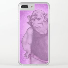 Purple Nurple Clear iPhone Case