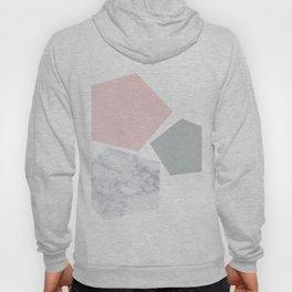 Blush, gray & marble geo Hoody