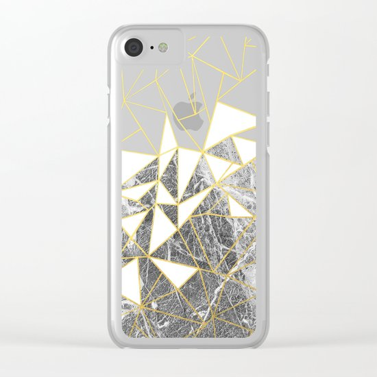 Ab Marb Clear iPhone Case