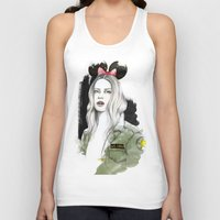 army Tank Tops featuring Army Girl by Camis Gray