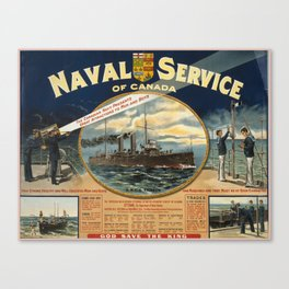 Vintage poster - Naval Service of Canada Canvas Print