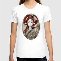 postcard T-shirts featuring Japanese Postcard by Little faba