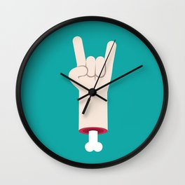 Rock and roll hand Wall Clock