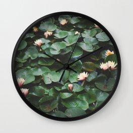 Echo Park Waterlillies Wall Clock