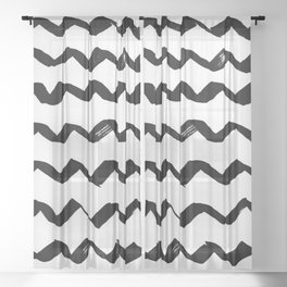 Ink Chevron Sheer Curtain