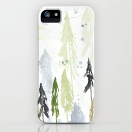 Into the woods woodland scene iPhone Case