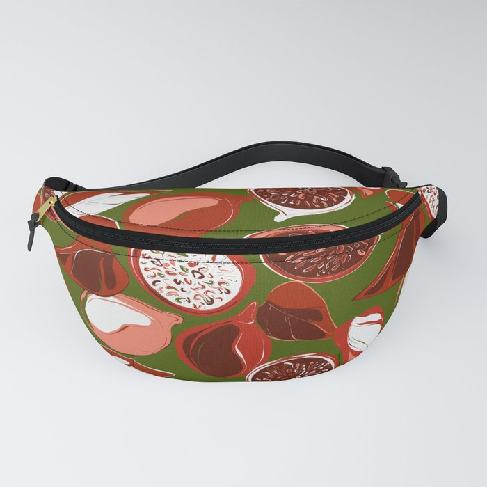 Pomegranate green Fanny Pack