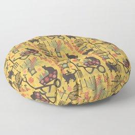 intrepid gardeners Floor Pillow