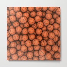 Basketballs Metal Print