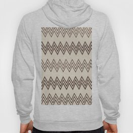 Vintage white brown faux leather geometrical chevron Hoody