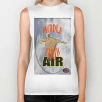 middle earth Biker Tanks featuring darrell merrill nerd artist: middle earth air by Nerd Artist DM