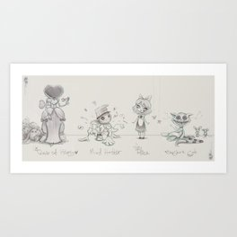 Alice in wonderland of the dolls Art Print