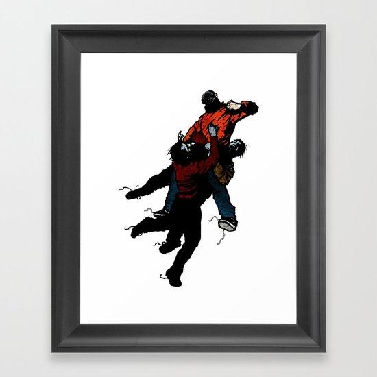 Hold On V2 Framed Art Print