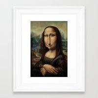 mona lisa Framed Art Prints featuring Mona Lisa by Alexander Novoseltsev