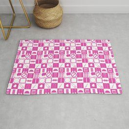 Contraception Pattern (Pink) Rug