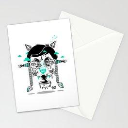 evilcat by s-fly Stationery Cards