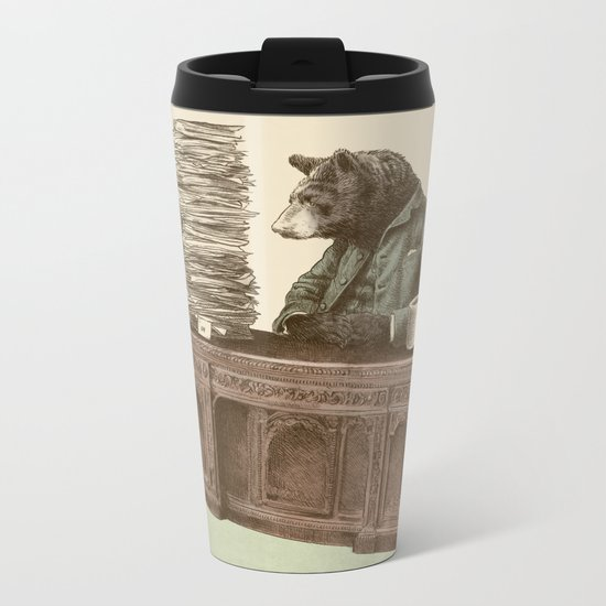 Bearocrat Metal Travel Mug