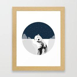 Unique Polar Bear Scene Framed Art Print