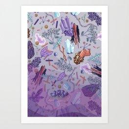 violet mountain dreams Art Print