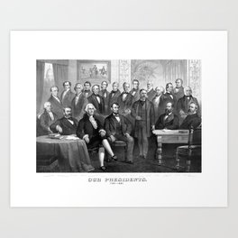 Our Presidents 1789 - 1881 Art Print