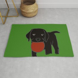 Black Lab Puppy Rug