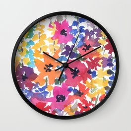 Bright Summer Garden Wall Clock