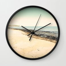 Winter Beach Wall Clock