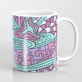 Wandering Abstract Line Art 03: Pink Coffee Mug