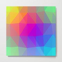Rainbow Triangle Abstract Metal Print