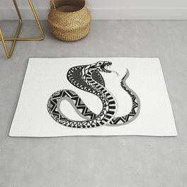 black king cobra ecopop Rug