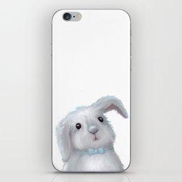 White Rabbit Boy isolated iPhone Skin