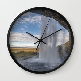 Seljalandsfoss. Wall Clock