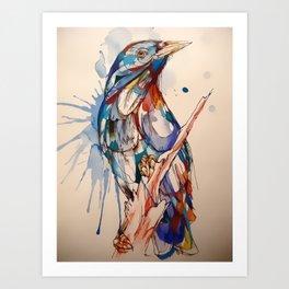 Random Colors Bird Art Print