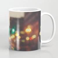 portland Mugs featuring Portland In The Rain by Laura Ruth