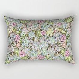 Succulent Pastel Rectangular Pillow