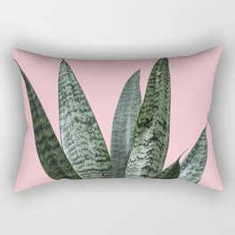 Snake plant in pink Rectangular Pillow