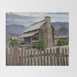 Appalachian Mountain Cabin Throw Blanket