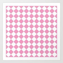 Light Pink Diamond Pattern Art Print