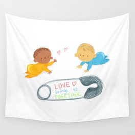 Love bring us together Wall Tapestry