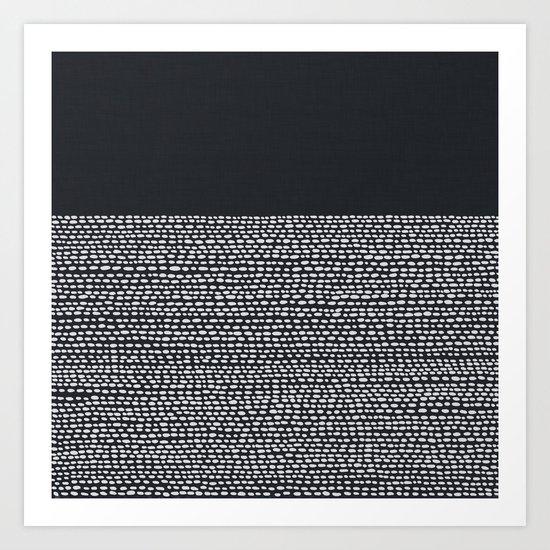 Riverside (Black) Art Print