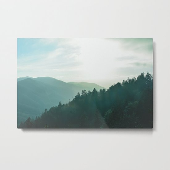 Green Forest, Slow down! Metal Print