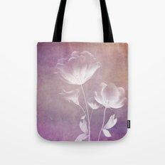 SATIN FLORAL Tote Bag