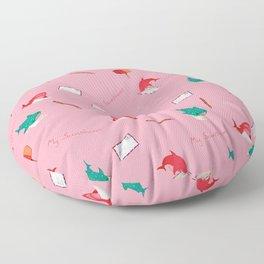 Pink Shark and Whale Shark Floor Pillow