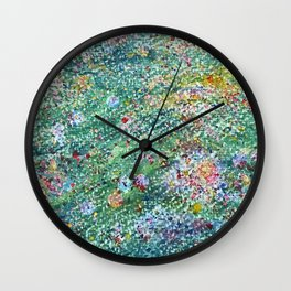 colorful flower filed Wall Clock
