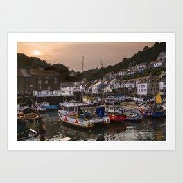 Polperro Harbour, Cornwall Art Print